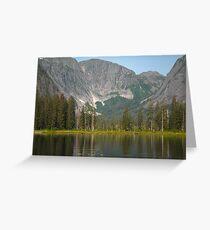 Misty Fjords, AK Mountain Lake Greeting Card