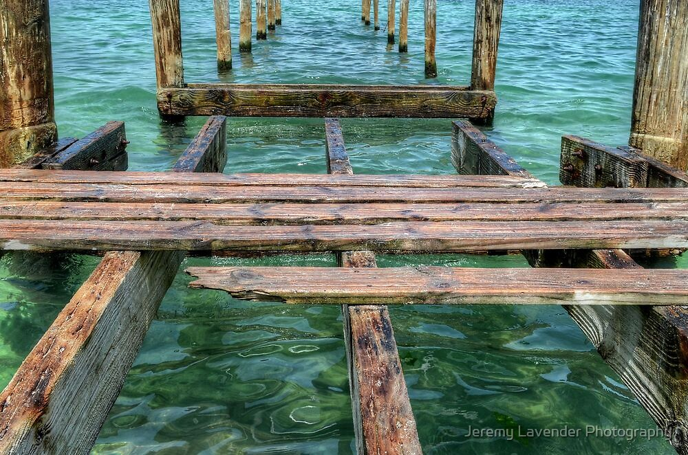 Pier at Montagu Beach in Nassau, The Bahamas by Jeremy Lavender Photography
