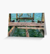 Pier at Montagu Beach in Nassau, The Bahamas Greeting Card