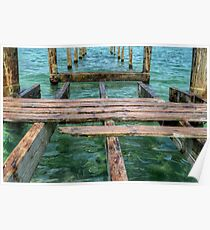 Pier at Montagu Beach in Nassau, The Bahamas Poster