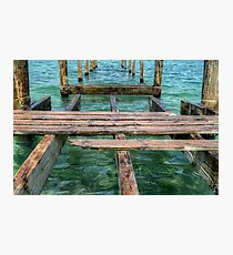 Pier at Montagu Beach in Nassau, The Bahamas Photographic Print