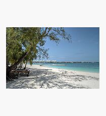 Montagu Beach in Eastern Nassau, The Bahamas Photographic Print