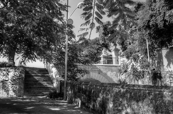 East Entrance of Government House at the top of Gregory Arch in Downtown Nassau, The Bahamas by Jeremy Lavender Photography
