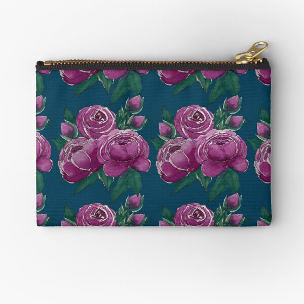 Rose and Peonies  Zipper Pouch