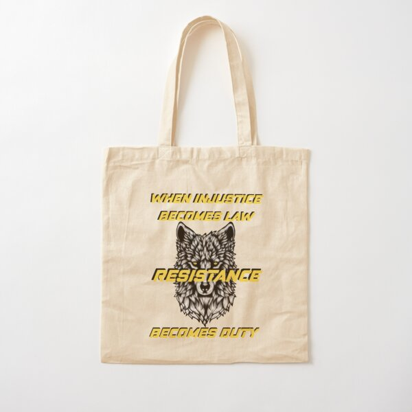 Resistance Wolf  Cotton Tote Bag