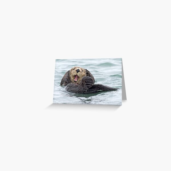 Happiness is a wet otter Greeting Card