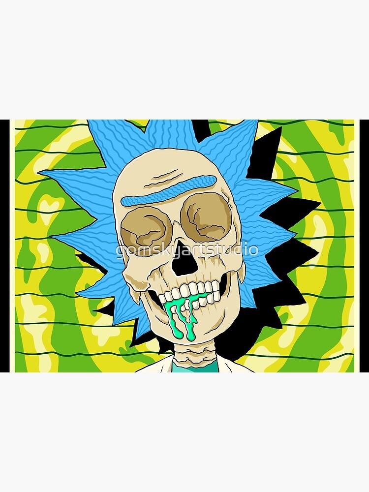 rick and morty skull by gomskyartstudio