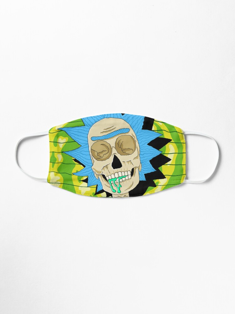 Alternate view of rick and morty skull Mask
