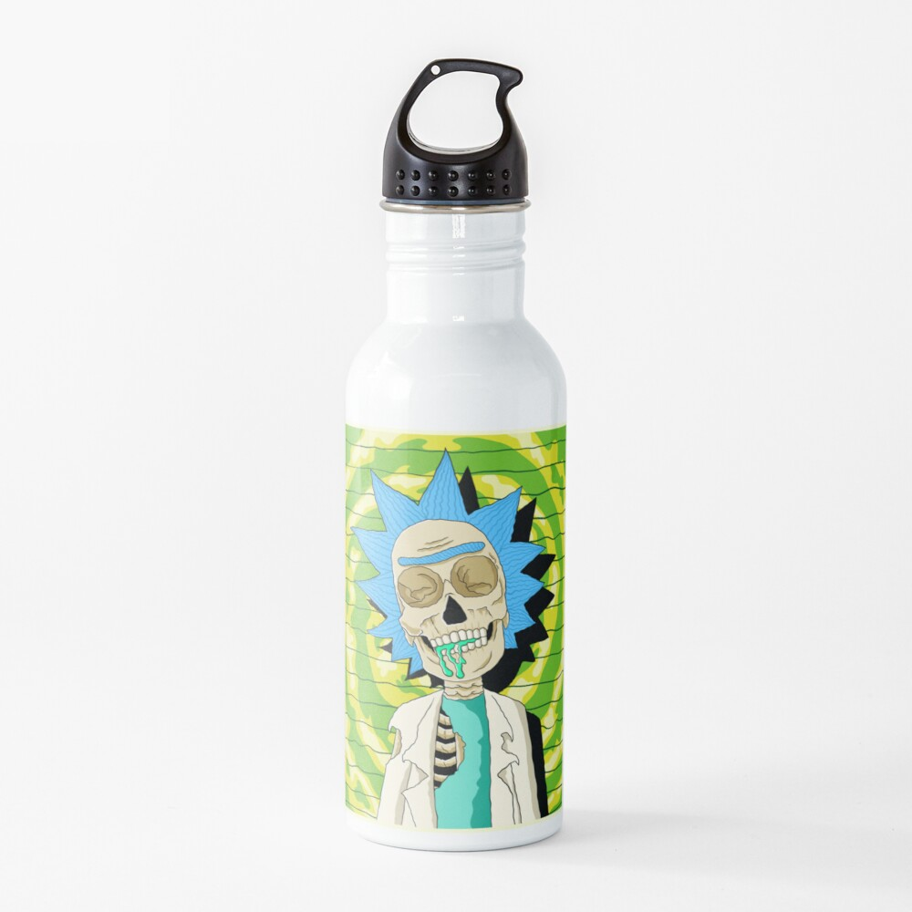 rick and morty skull Water Bottle