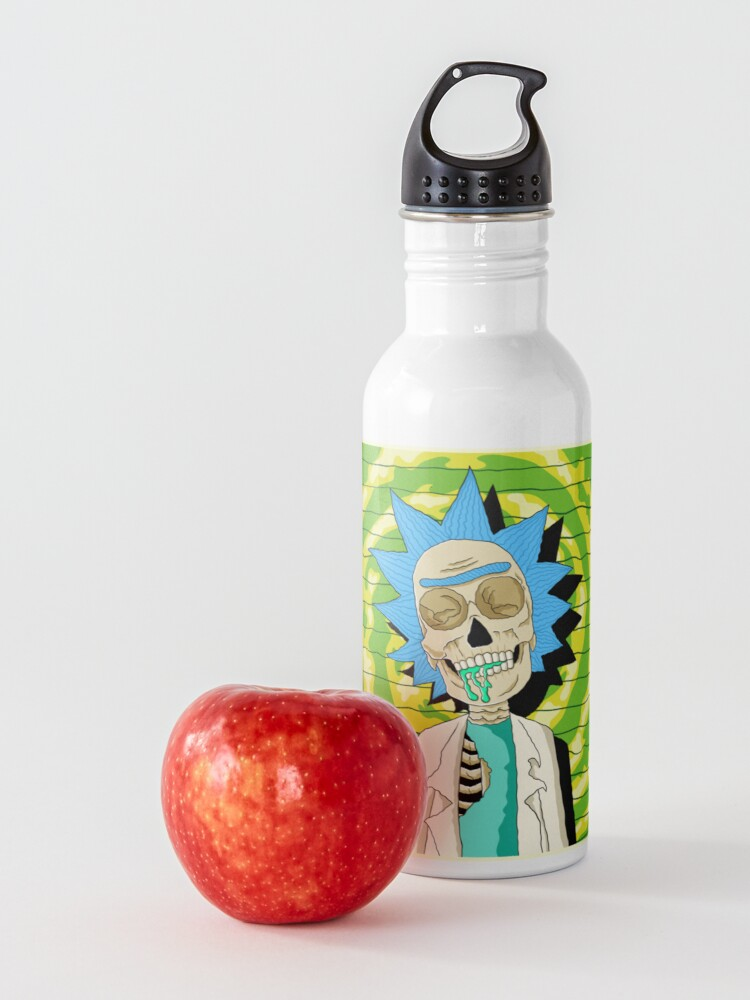 Alternate view of rick and morty skull Water Bottle