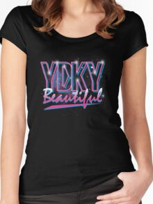 YDKY Beautiful Women's Fitted Scoop T-Shirt