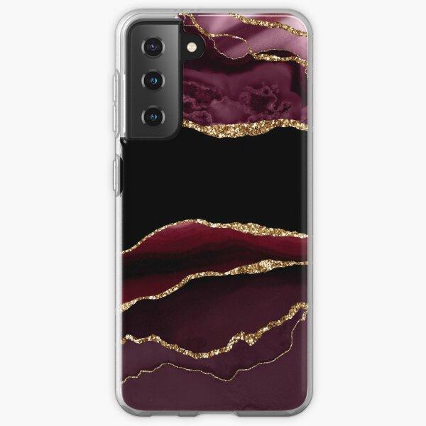 Burgundy & Gold Agate Texture 11 Samsung Galaxy Soft Case