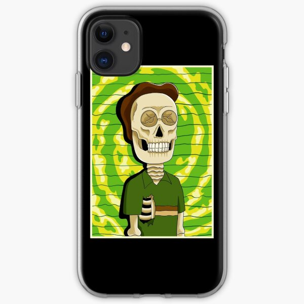 jerry rick and morty skull iPhone Soft Case