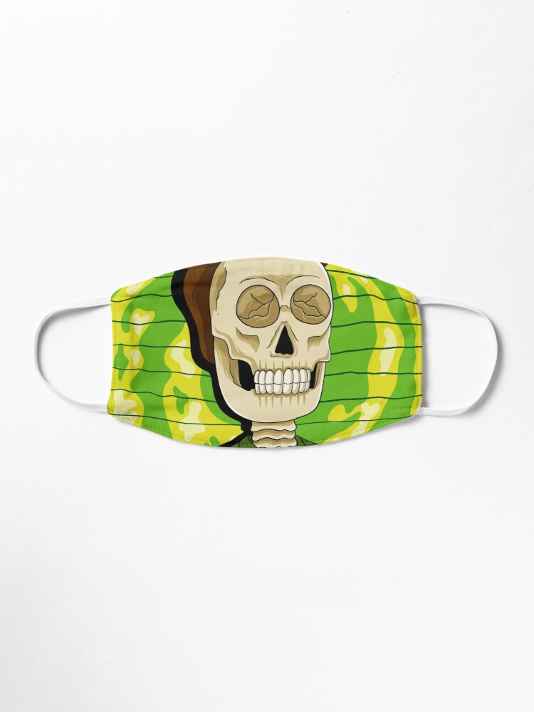 Alternate view of jerry rick and morty skull Mask