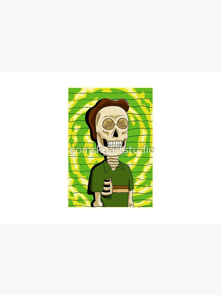 jerry rick and morty skull by gomskyartstudio