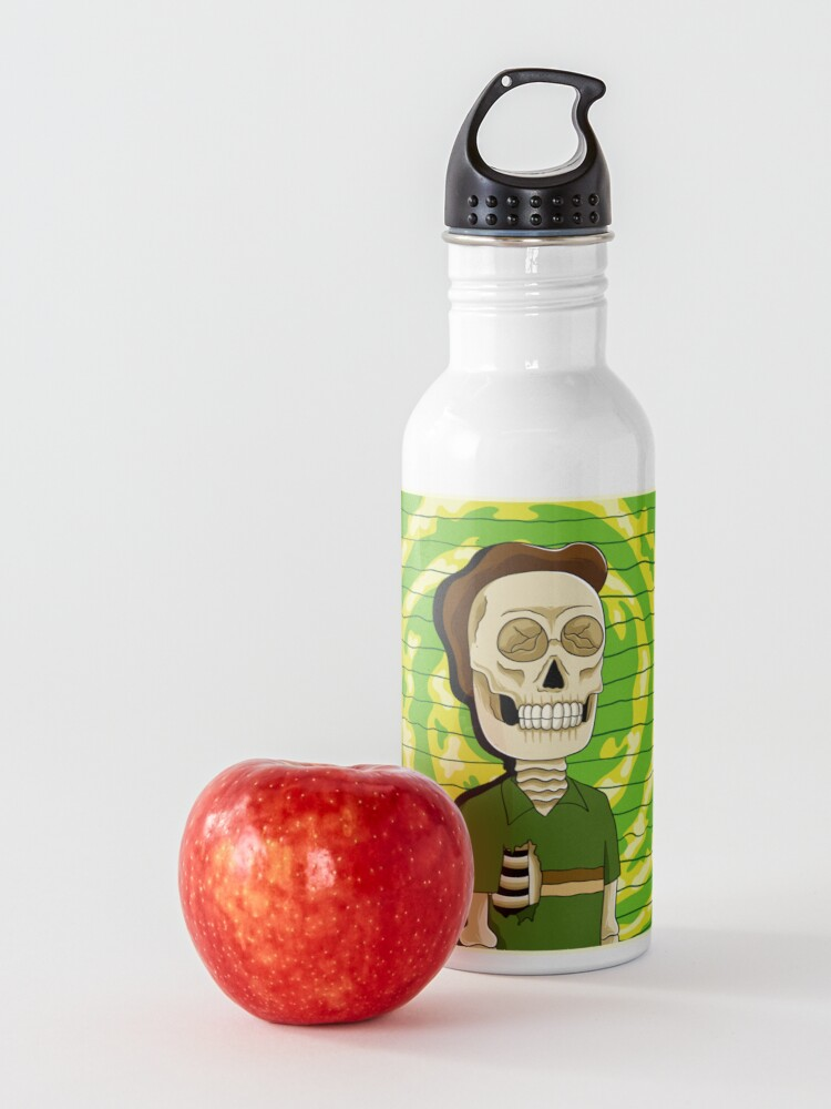 Alternate view of jerry rick and morty skull Water Bottle