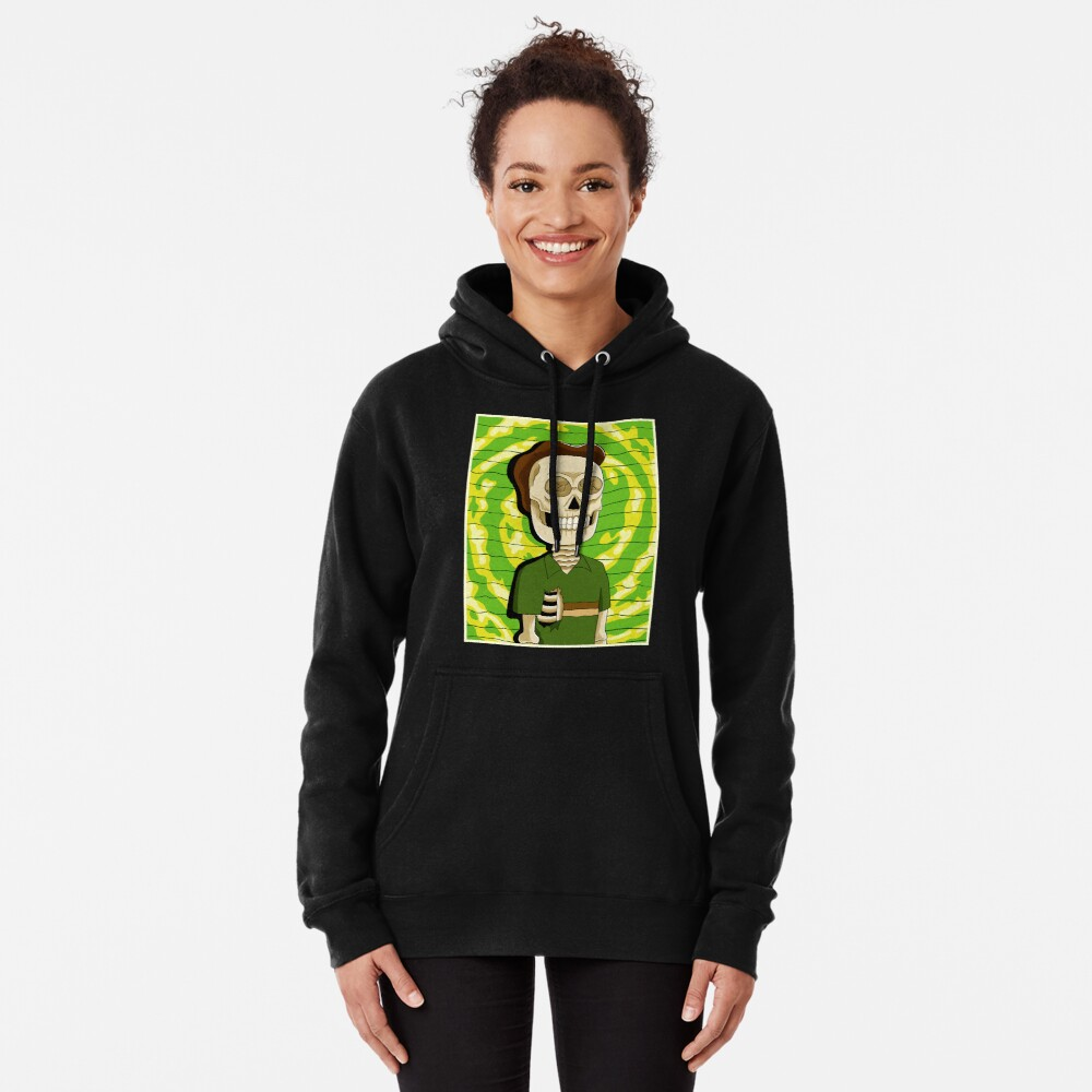 jerry rick and morty skull Pullover Hoodie