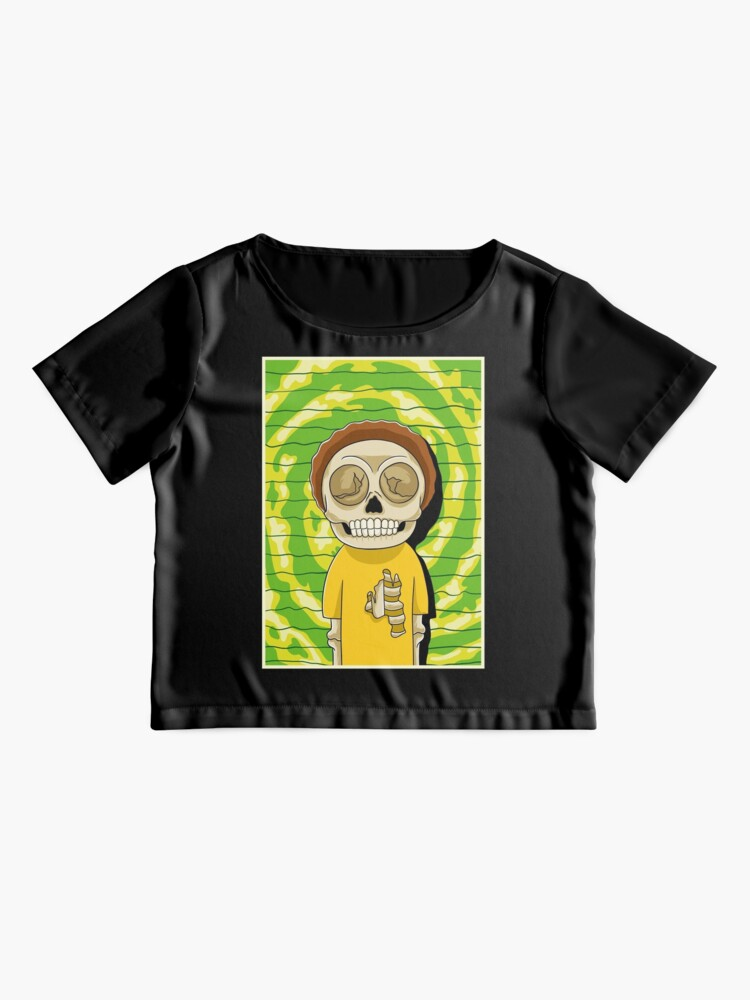 Alternate view of morty  rick and morty skull Chiffon Top