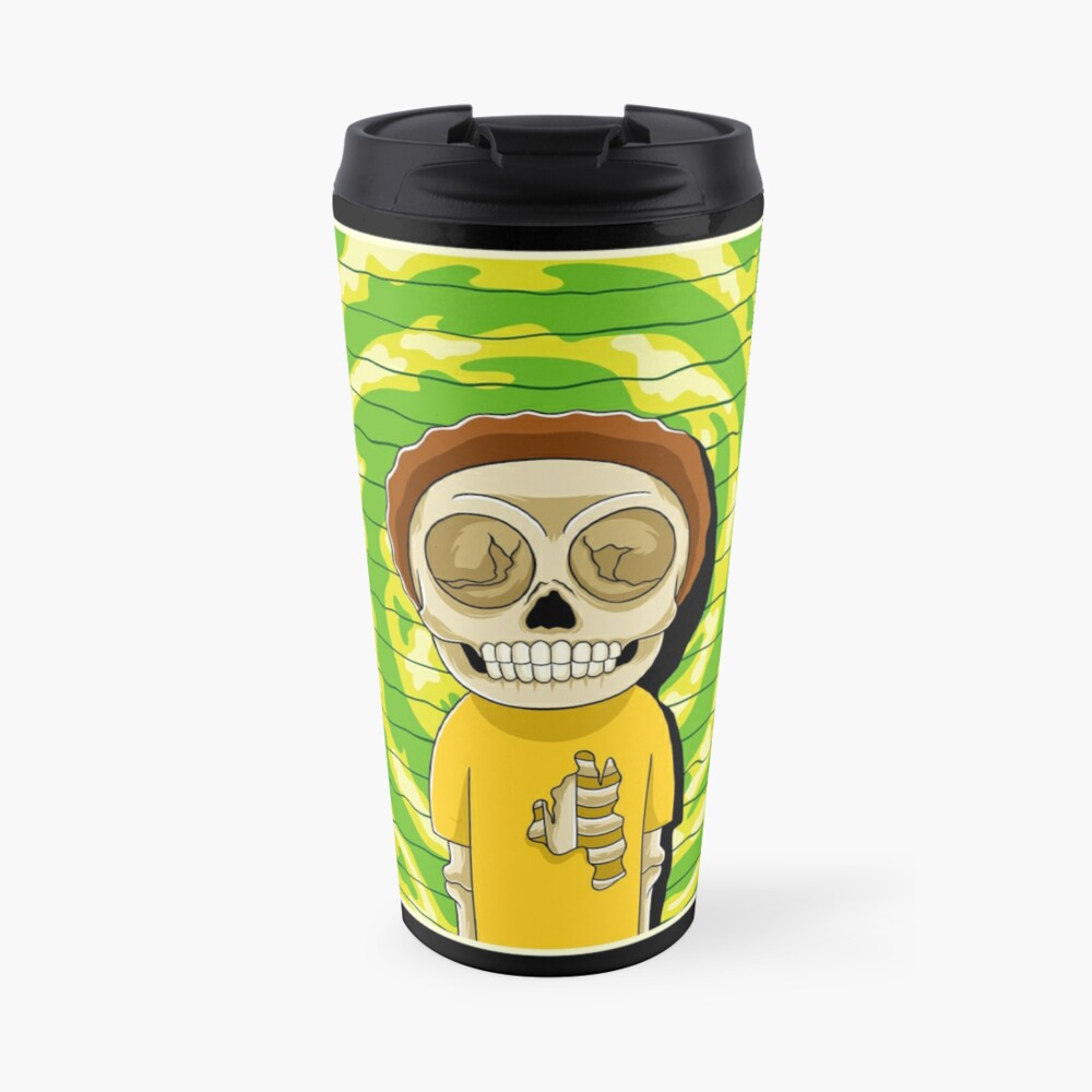 morty  rick and morty skull Travel Mug