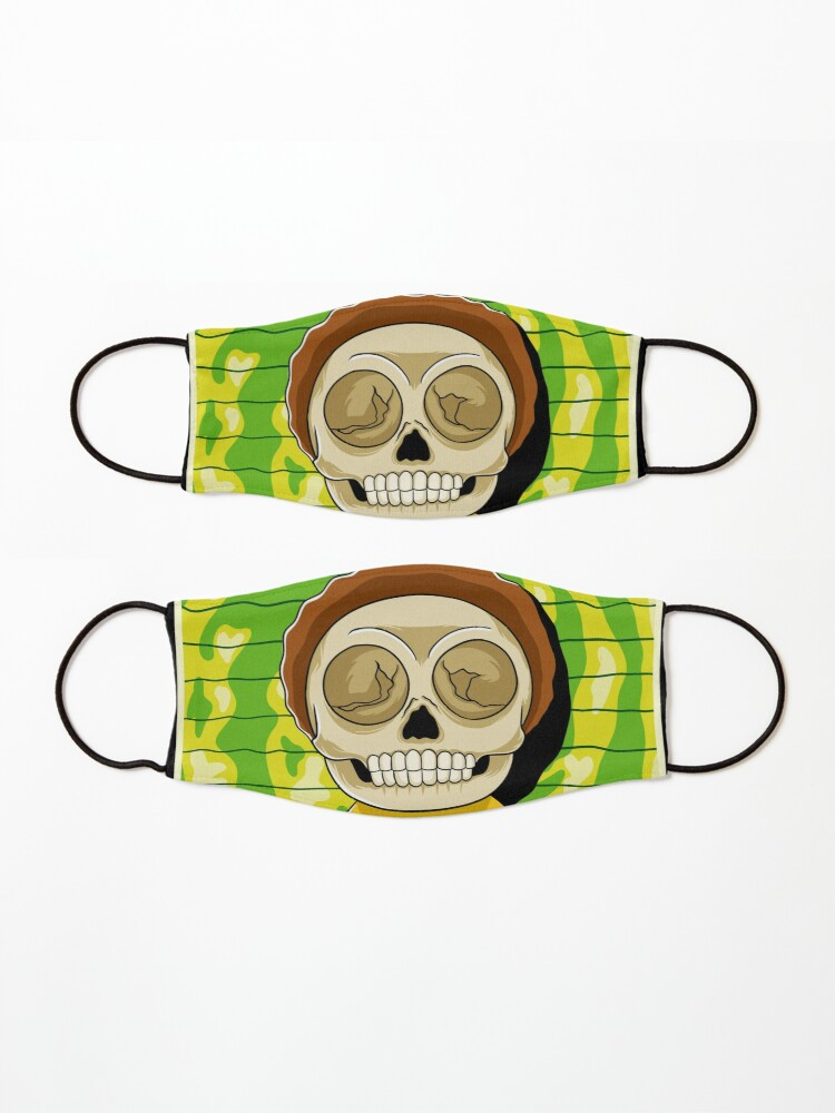 Alternate view of morty  rick and morty skull Mask