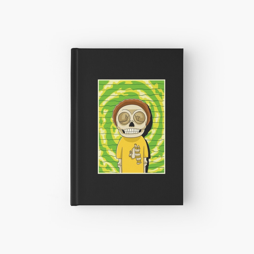 morty  rick and morty skull Hardcover Journal