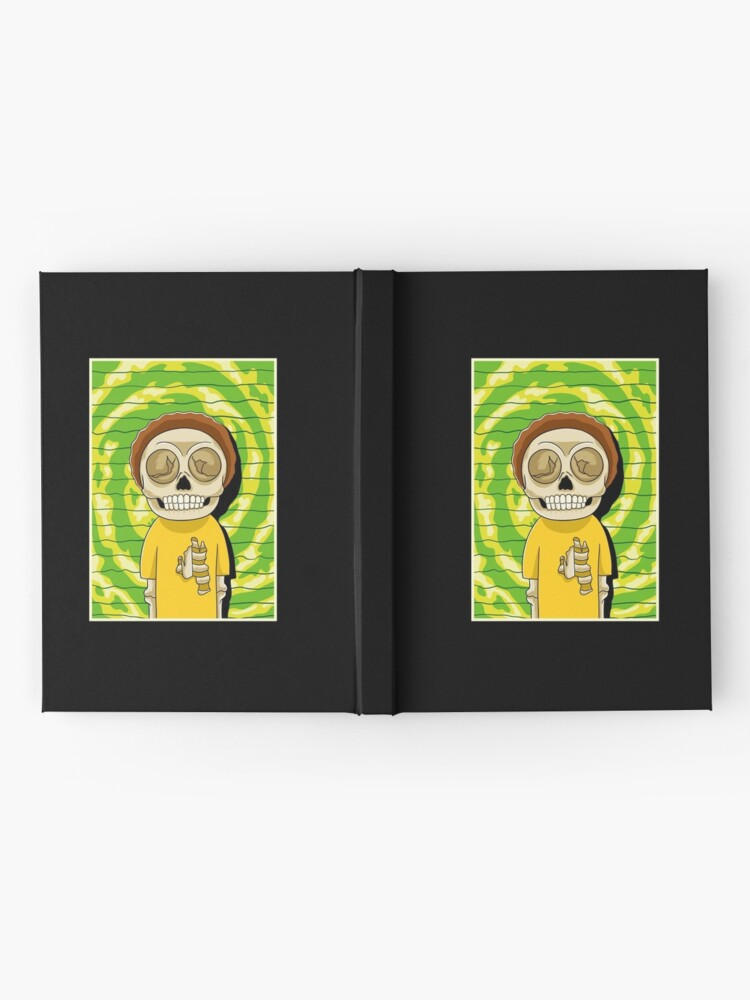Alternate view of morty  rick and morty skull Hardcover Journal