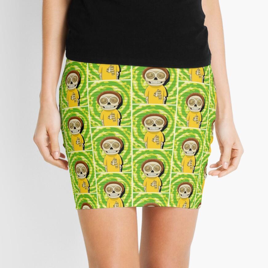 morty  rick and morty skull Mini Skirt