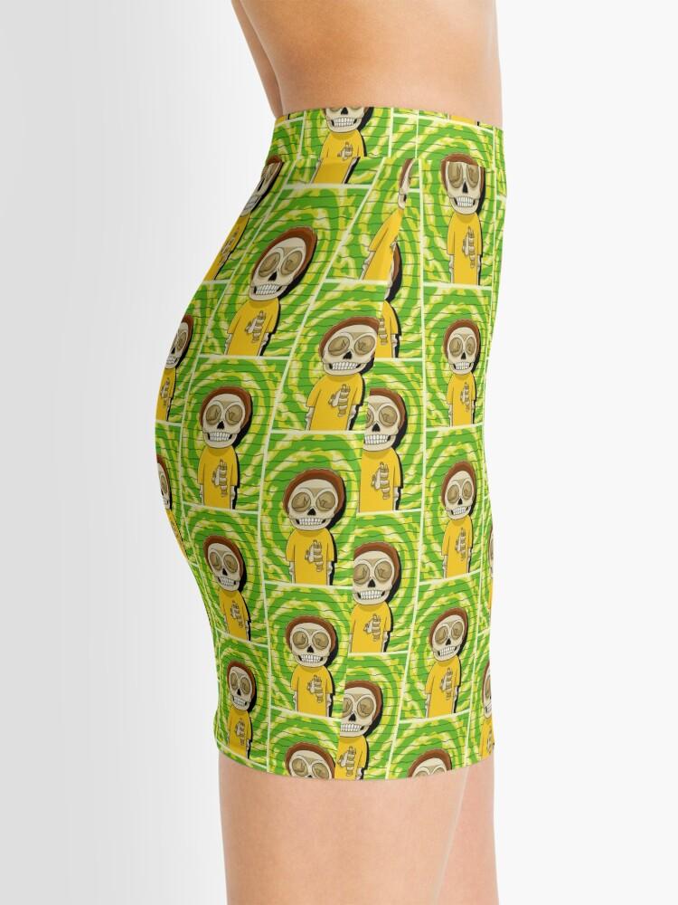 Alternate view of morty  rick and morty skull Mini Skirt
