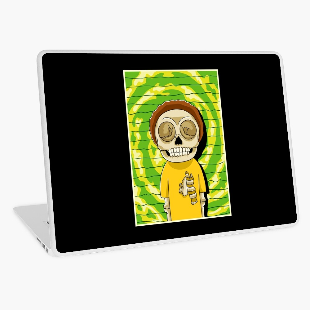 morty  rick and morty skull Laptop Skin