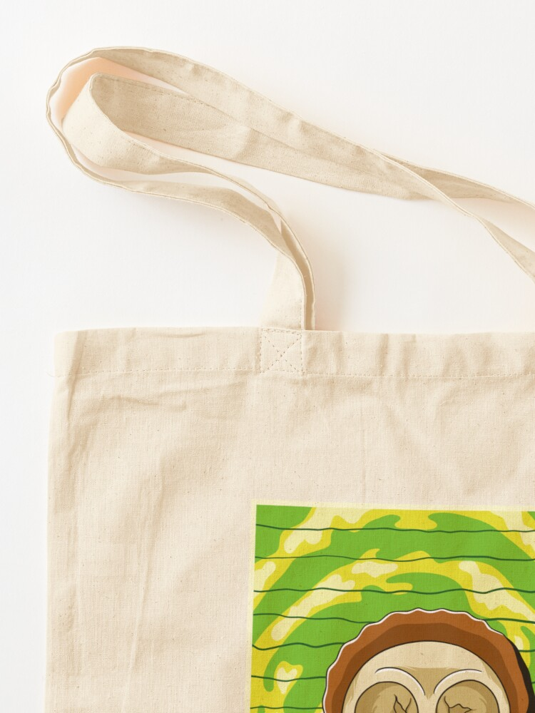 Alternate view of morty  rick and morty skull Tote Bag