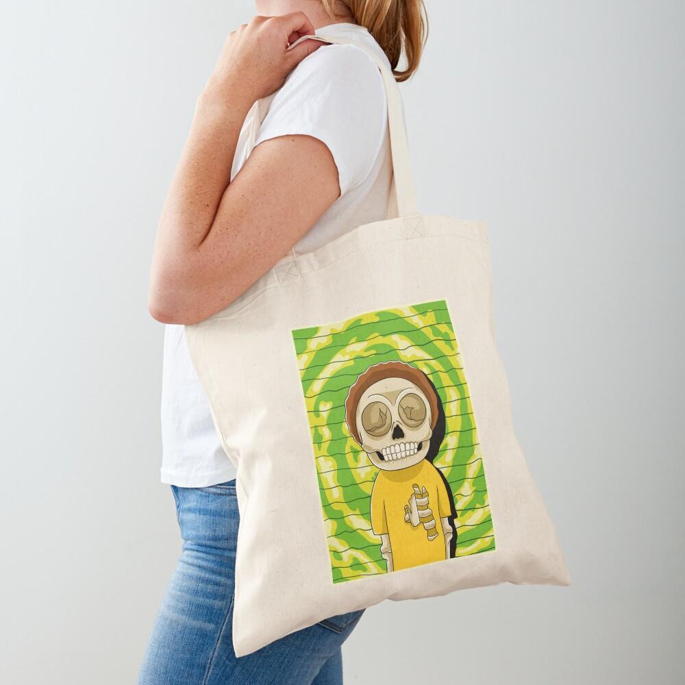 morty  rick and morty skull Tote Bag
