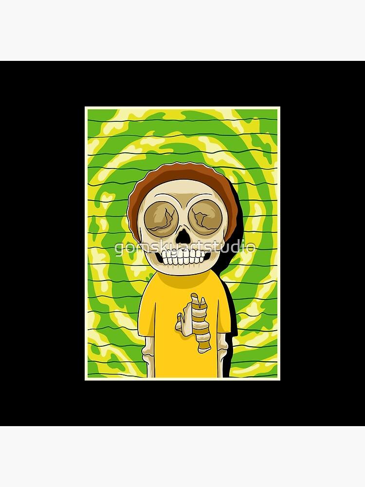 morty  rick and morty skull by gomskyartstudio