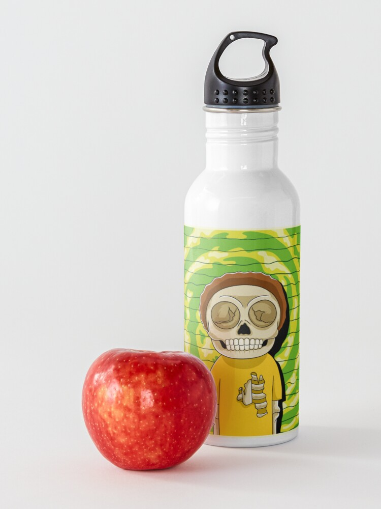Alternate view of morty  rick and morty skull Water Bottle