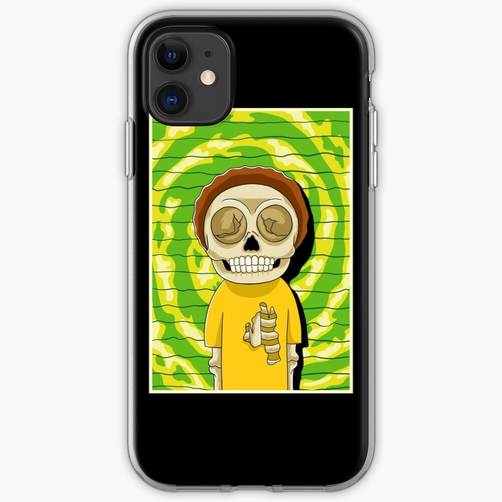 morty  rick and morty skull iPhone Case & Cover