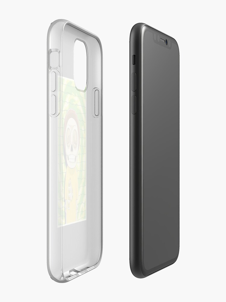 Alternate view of morty  rick and morty skull iPhone Case & Cover