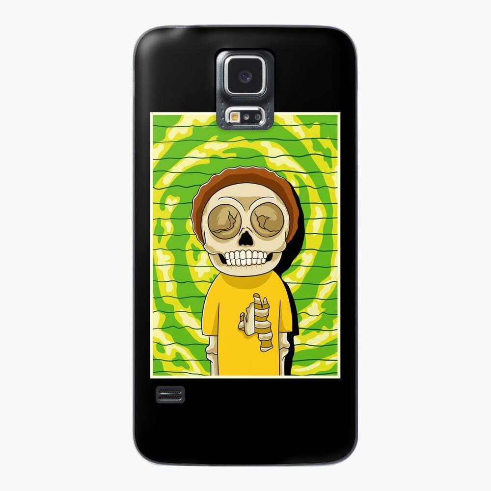 morty  rick and morty skull Case & Skin for Samsung Galaxy