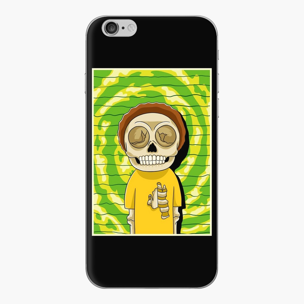 morty  rick and morty skull iPhone Skin