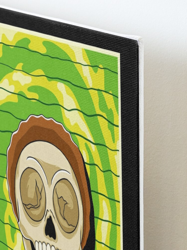 Alternate view of morty  rick and morty skull Mounted Print
