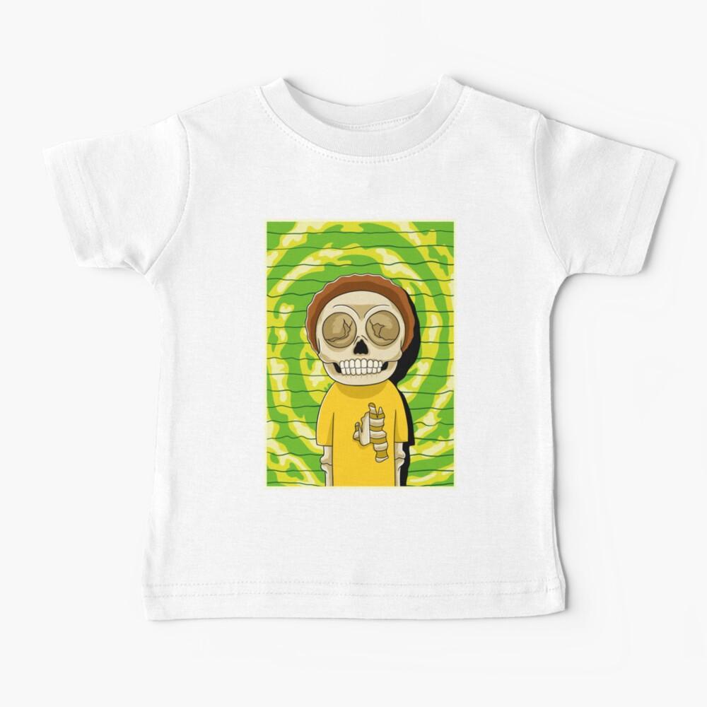 morty  rick and morty skull Baby T-Shirt
