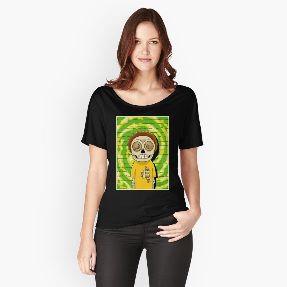 morty  rick and morty skull Relaxed Fit T-Shirt