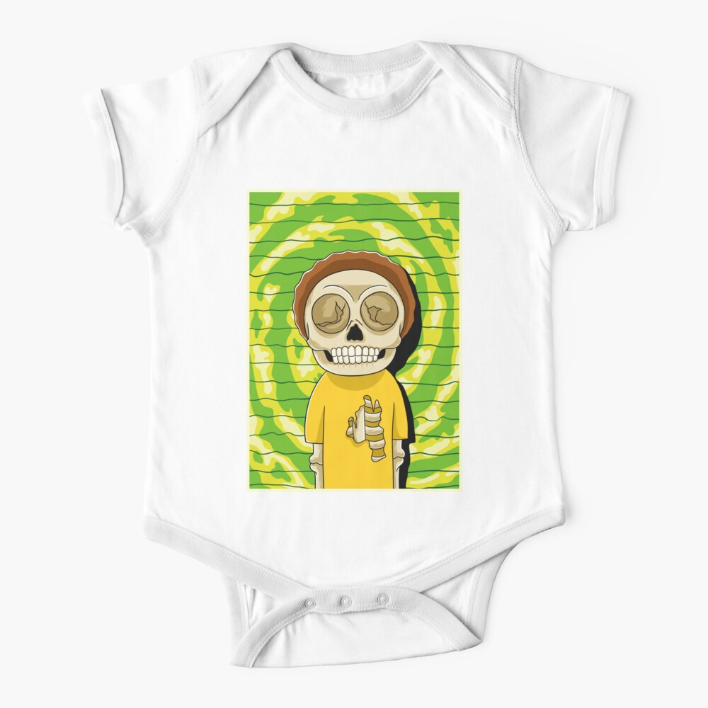 morty  rick and morty skull Baby One-Piece