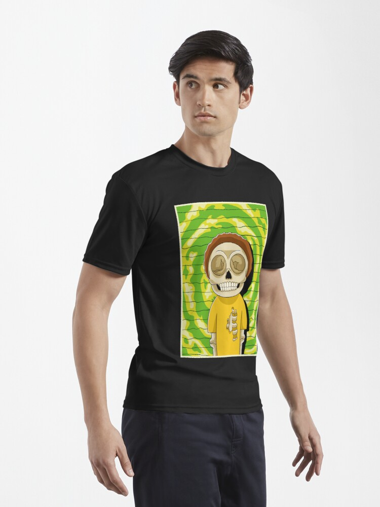 Alternate view of morty  rick and morty skull Active T-Shirt
