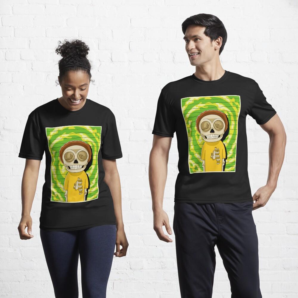 morty  rick and morty skull Active T-Shirt