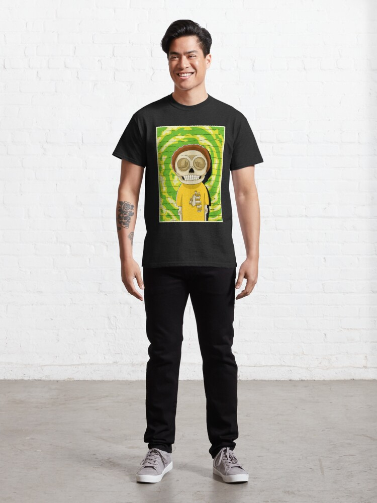 Alternate view of morty  rick and morty skull Classic T-Shirt