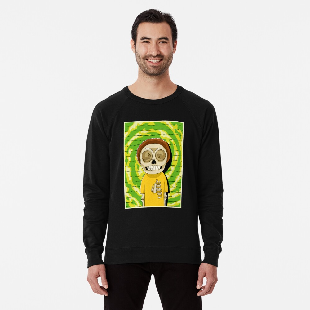 morty  rick and morty skull Lightweight Sweatshirt