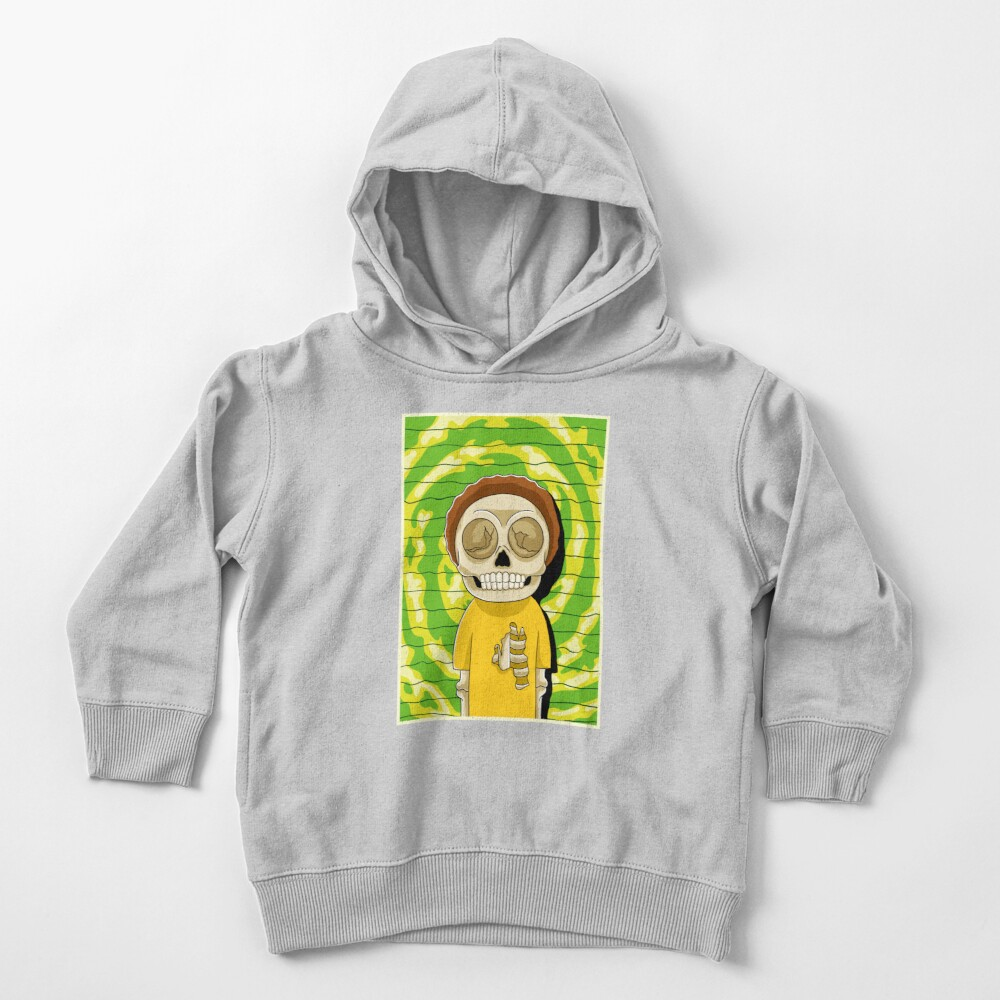 morty  rick and morty skull Toddler Pullover Hoodie