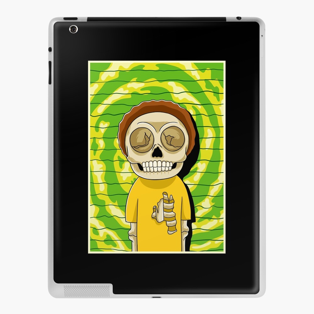 morty  rick and morty skull iPad Case & Skin