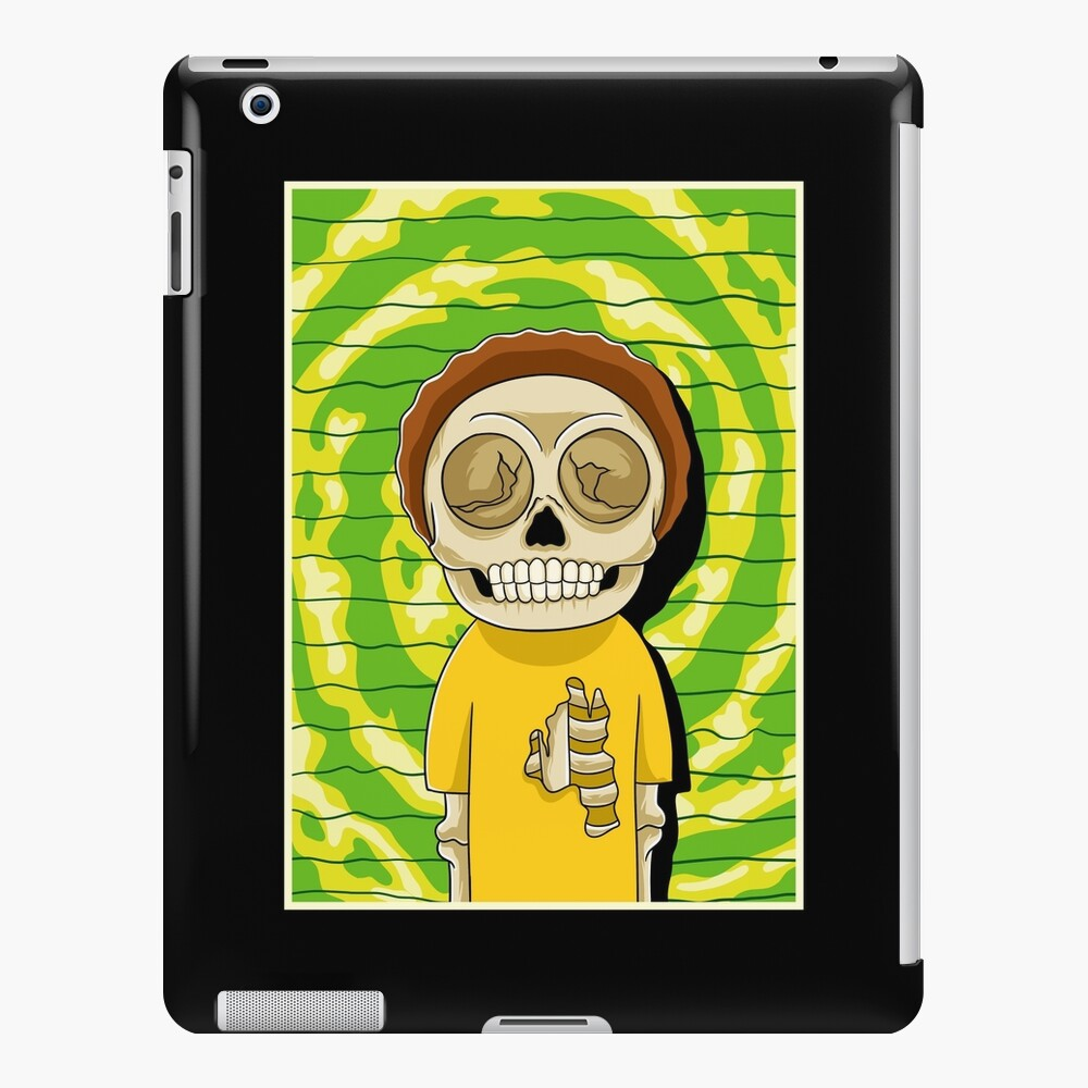 morty  rick and morty skull iPad Case & Skin