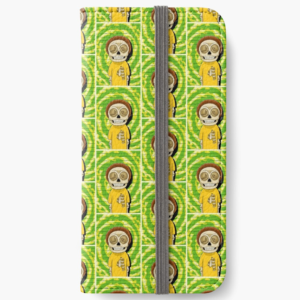 morty  rick and morty skull iPhone Wallet