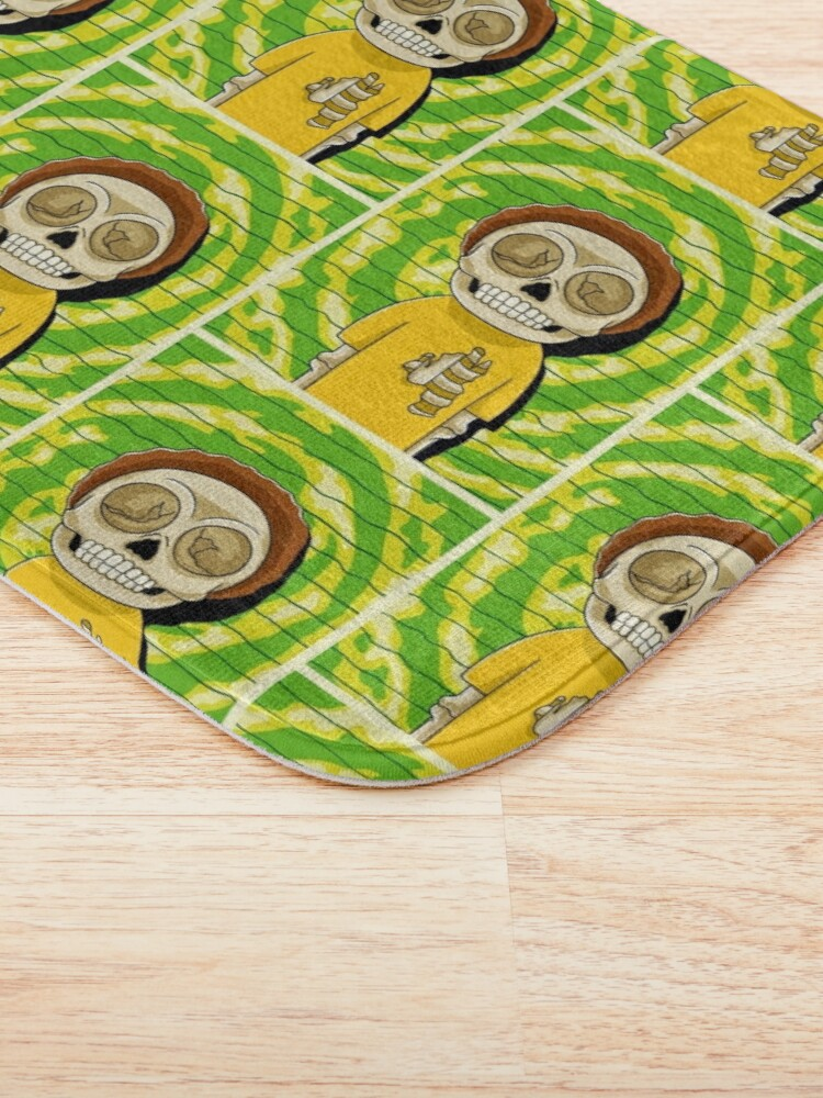 Alternate view of morty  rick and morty skull Bath Mat